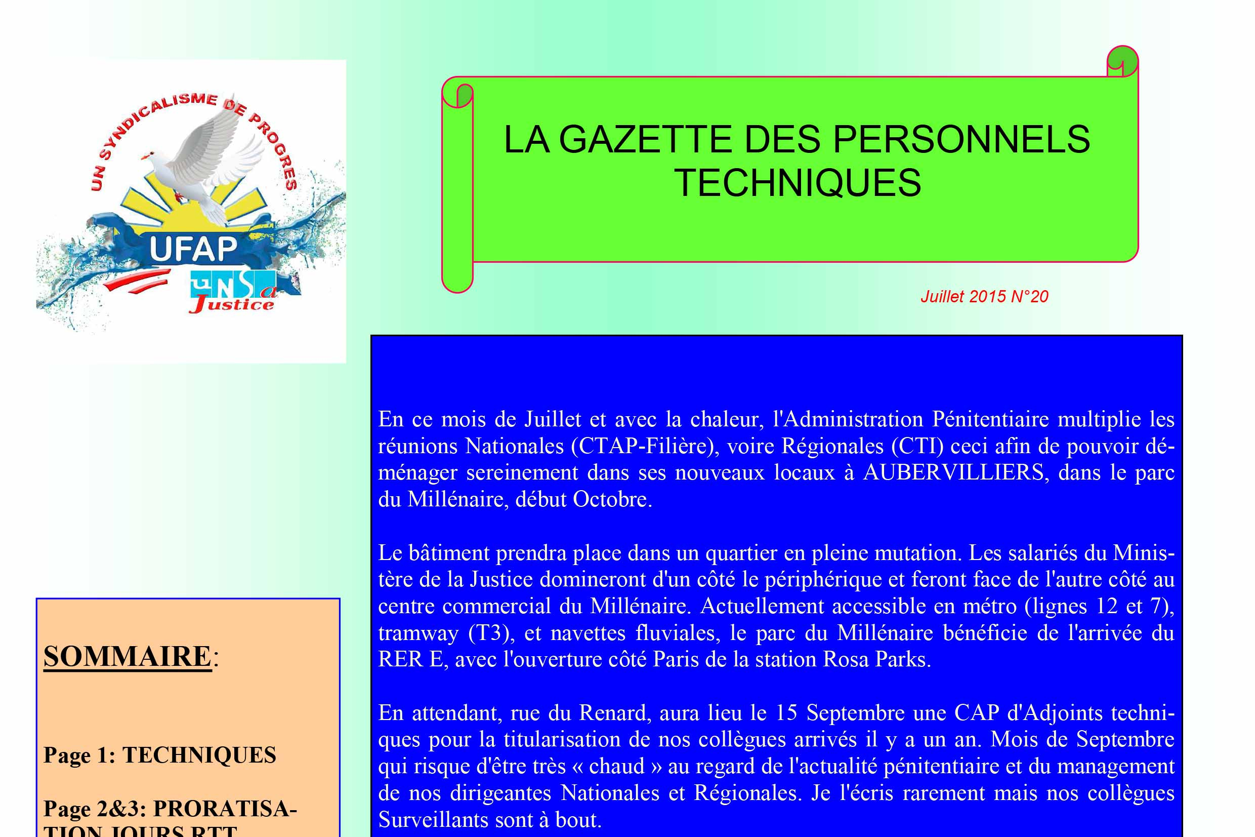 La Gazette des Technique N° 20